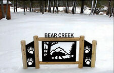 Personalized Bears Signs - Wildlife Art - Rustic Log Decor
