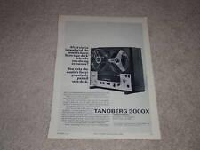 Tandberg Ad, 1970, 3000x, Article, Rare Ad