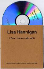 LISA HANNIGAN I Don't Know 2009 UK 1trk promo test CD