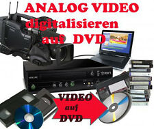 3 Analog Videos x VHS-C- Video 8, Hi8, MiniDV, D8, auf DVD digitalisieren