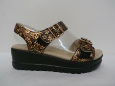 Alegria Leather Multi Strap Wedge Sandals - Morgyn PRETTY THINGS Size 35(5-5.5)
