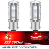 Ampoule 33 LED Rouge BA15S-1156 P21W feu de Position Stop 2X Lampe 12V ESS TECH®