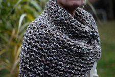 Hand Knitted Claire's Triangle Shawl Shoulder Wrap Cowl 4 colors