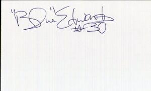 Autographed Index Card - Blue Edwards Utah Jazz Boston Celtics Bucks LAST ONE!!!