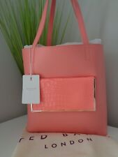 Ted Baker Exotic Coral Light Red SHOPPER Real Leather Bag 135852