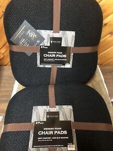 "4 Piece Memory Foam Honeycomb Nonslip Back 16"" x16"" Chair/Seat Cushion Pad"