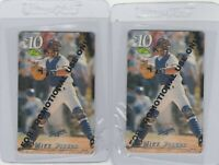 Mike Piazza Promo Promotional Phone Card Classic 1995 Dodgers Lot of 2
