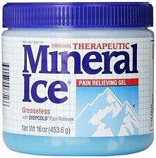 5 Pack - Mineral Ice Topical Analgesic Pain Reliving Gel 16Oz Each