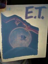Et Finger Touch 1982 Vintage Americana Iron On Transfer -Nice, B-4
