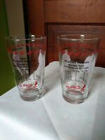 "Vintage Set Of 2 ""2003 Arbys Collecton Of Playoff Red Wing Glasses"