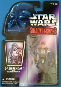 Star Wars Dash Rendar w/ Heavy Weapons Pack, Shadows of the Empire purple card