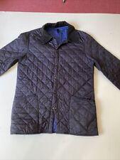 Mens Barbour Designer Navy Blue Jacket Medium 44 Inch Chest