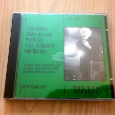 Toscanini's 1st Concert With NBC Symphony Orchestra NEW CD Vivaldi/Mozart/Brahms