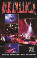 LOT OF 2 POSTERS : MUSIC :  METALLICA - POOR TOURING ME    #6167    RP60 i