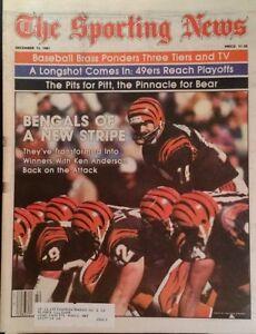 1981 Sporting News Ken Anderson Stan Smyl Franco Garvey Schmidt RARE Ads
