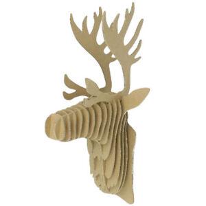 3D Jigsaw Puzzle- Trophy Head Reindeer - Cardboard Educational activities