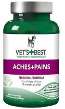 Vet's Best Aspirin Free Aches & Pains Dog Supplements, 50 Chewable Tablets New