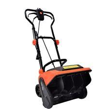 16 inch 9-Amp Electric Powered Snow Thrower Yard Power Shovel w/ Wheels
