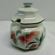 Mikasa Silk Flowers Sugar Bowl With Lid F3003 Japan