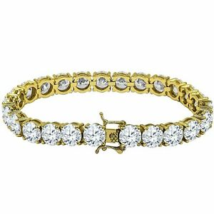 ICED Bling High Quality Bracelet - GOLD 1 ROW 8mm