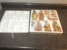 Homco Home Interiors 5599 Nativity Set Christmas 9 Piece Jesus Mary Joseph