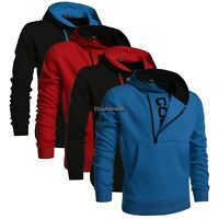 Men warm Hooded pocket slim Sweatshirt Coat Outwear jacket overwear hoodie