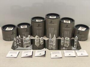 Swarovski Silver Crystal City Set - 10 Pieces Boxed w/ Certs & Mirrors 7474