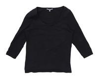 Laura Ashley Womens Size 12 Cotton Blend Black Top (Regular)
