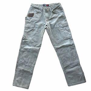 Wrangler Pants Mens 34x34 Light Olive Green Riggs Workwear Ripstop Ranger Pants
