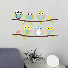 Pretty Owls On Tree Wall Stickers For Kids Rooms Decorative Adhesive Wall Decal