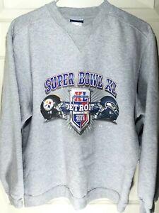 NFL 2006 Super Bowl 40 Pittsburgh Steelers Seattle Seahawks Reebok Sweatshirt M