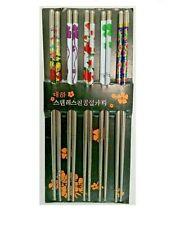 2 packs of 10 Stainless Steel Chopsticks Chop Sticks Assorted (10 pairs)