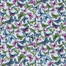 Butterfly Forest Large Blue Butterflies Benartex #5155 By the Yard
