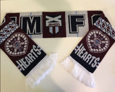 HEARTS Football Scarves New from Soft Luxury Acrylic Yarns