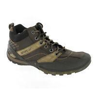 CAT Caterpillar Exodus Hi Blackout Leather Mens Short Ankle Boots Trainer UK6-11