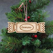 Personnalisé Noël Cracker-gravé en Bois Arbre de Noël Décoration