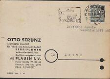 PLAUEN, Postkarte 1946, Otto Strunz Technisches Geschäft Fabrik-Automobil-Bedarf
