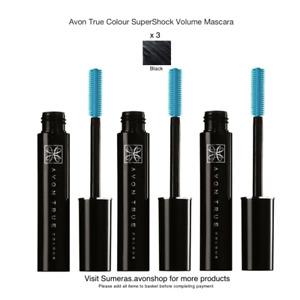 Avon True Colour Super Shock Mascara ~ Black x 1~2~3 Great Gift/Present Free P&P