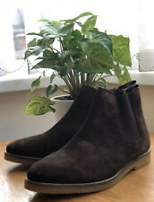 Next Brown Suede Leather Chelsea Ankle Boots Work Casual Size 9 EUR 43 - RRP £58