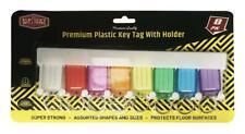 8x Key Tags With Holder Rack Keys Rings Hook Storage Label Wall Mount Organiser