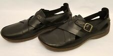 Timberland Smart Comfort System Black Leather Driving Shoes Sandals Women's 9M