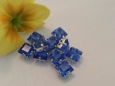 Swarovski #4400/2 Square Rhinestone 8mm Sew on Sapphire colour Pk 4 CRAFT