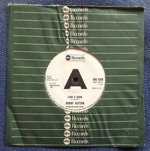 "BOBBY HUTTON ""LEND A HAND"" WILLIE HUTCH ""LOVE RUNS"" rare UK NORTHERN SOUL MINT-"