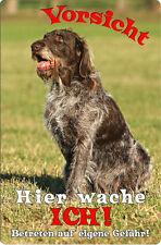 Deutsch DRAHTHAAR - A4 Alu Warnschild Hundeschild SCHILD Türschild - DDR 03 T15