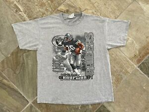 Vintage Oakland Raiders Napoleon Kaufman Nutmeg Football Tshirt, Size XL