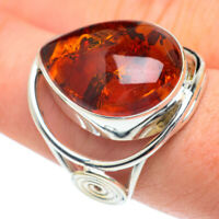 Large Baltic Amber 925 Sterling Silver Ring Size 8.5 Ana Co Jewelry R62297F