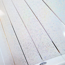 10 White Sparkle Stardust & Chrome Bathroom PVC Cladding Shower Wet Wall Panels