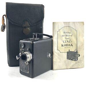 KODAK CINE KODAK MODEL B 16mm MOVIE CAMERA, W/ 25MM F1.9-ORIGINAL CASE/HANDBOO