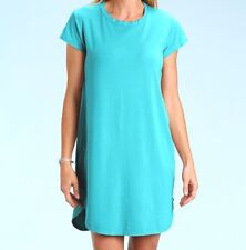 FRESH PRODUCE Large Luna Blue KYLIE Cotton Modal Tee Shirt Dress NWT New L