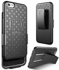 """IPhone 6 6s Plus 5.5"""" Rugged Slide Holster Bell Clip Case Cover w/ Kickstand JR"""